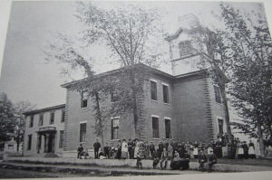 Farmington Normal School in the early days, before it was called the University of Maine at Farmington